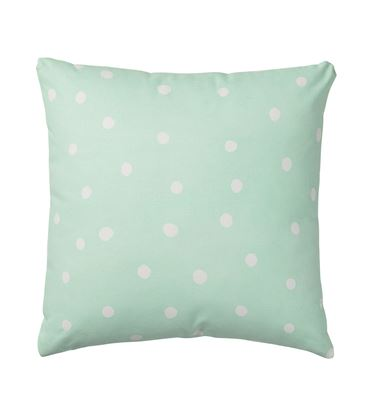 COJIN BIG DOTS WINTER MINT 50X50 - COJIN-BIG-DOTS-VINTER-MINT