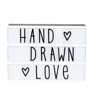 SET LETRAS HAND DRAWN LIGHTBOX - LETRAS-LIGHTBOX-HAND2