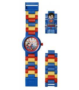 RELOJ LEGO SUPERMAN MINIFIGURA - RELOJ-LEGO-SUPERMAN