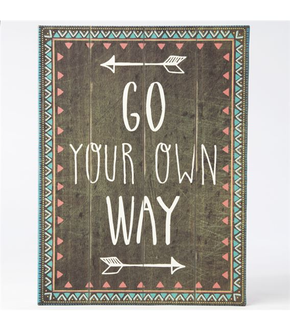 CUADRO GO YOUR OWN WAY - INS029