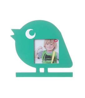 PHOTO FRAME BOBBY THE BIRD WOOD GREEN - 81JHLUAOBQL._SL1500_