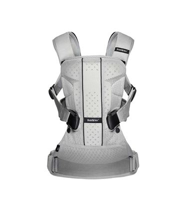 MOCHILA PORTABEBE ONE AIR BABYBJORN PLATA MESH - BABYBJORN-BABY-CARRIER-ONE-AIR-SILVER-MESH