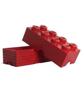BLOQUE LEGO DE ALMACENAJE ROJO DE OCHO SECCIONES - BLOQUE-DE-LEGO-8-COLOR-ROJO