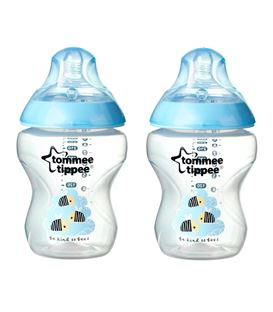 BIBERON 260ML DECORADO X2 TOMMEE TIPPEE ROSA - TOMMEE-TIPPE-CLOSER-TO-NATURES-BEES