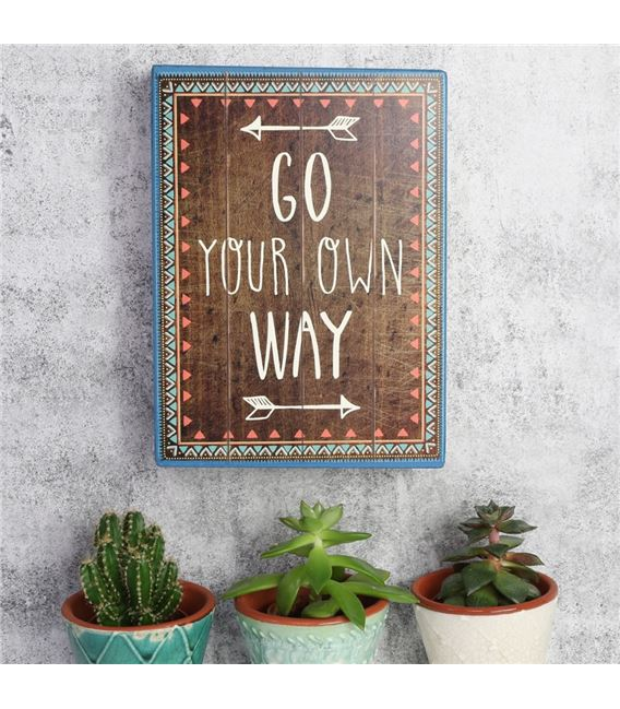 CUADRO GO YOUR OWN WAY - 900X900