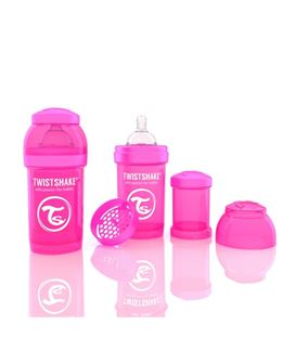 BIBERON TWISTSHAKE ANTICOLICO 180ML ROSA - 78001-600X600