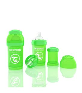 BIBERON TWISTSHAKE ANTICOLICO 180ML VERDE - 78004-600X600