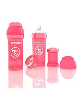 BIBERON TWISTSHAKE ANTICOLICO 260ML CORAL - 78032-600X600
