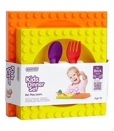 SET MENAJE 4 PIEZAS PLACEMATIX - SET-MENAJE-4-PIEZAS KIDS DINNER SET