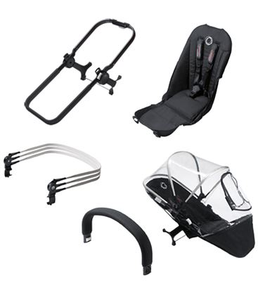 PACK EXTENSION DUO BUGABOO DONKEY NEGRO/NEGRO - EXTENSION-A-DUO-NEGRO-NEGRO