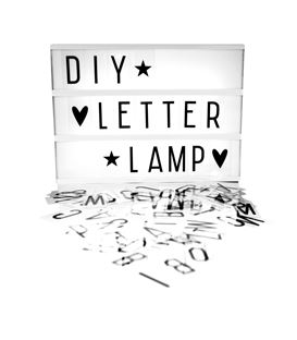 LIGHTBOX CON LETRAS INTERCAMBIABLES A4 BLANCO