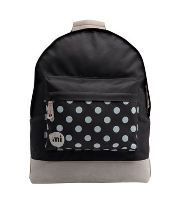 MOCHILA POLKA BLACK GREY - POLKA_BLACK_GREY