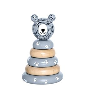 STACKING TOY NATURE SKY BLUE - PIRAMIDE-OSO-GRIS