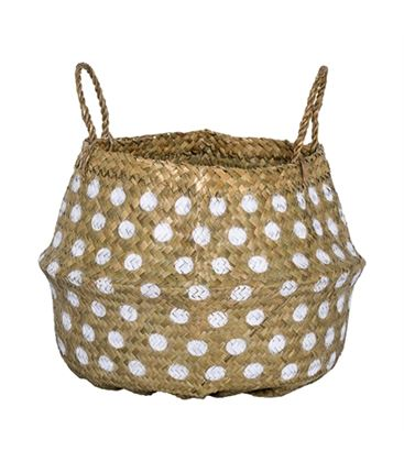 CESTA NATURE OFFWHITE - BASKET-DOTS