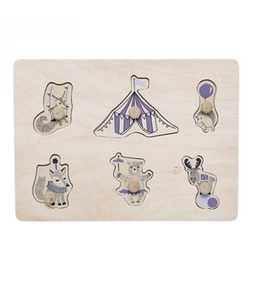 PUZZLE CIRCUS NATURE PURPLE - PUZLE CIRCUS PURPURA