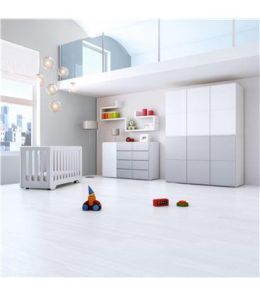ARMARIO INFANTIL DE 6 MÓDULOS GRIS BRILLO - ROOM-MODULAR-A3016-G2314