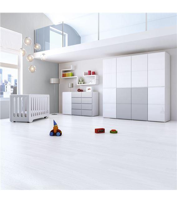 ARMARIO INFANTIL DE 8 MÓDULOS GRIS BRILLO - ROOM-MODULAR-A3018-G2314