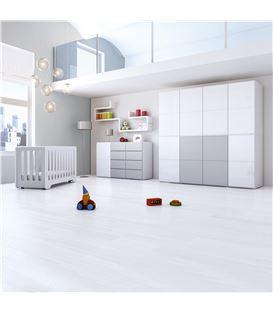 ARMARIO INFANTIL DE 8 MÓDULOS GRIS - ROOM-MODULAR-A3018-G2314