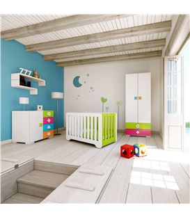 ARMARIO INFANTIL 2 PUERTAS 2 CAJONES MULTICOLOR 1 - ROOM-MATHS-MINI-A350-2350