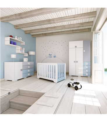 ARMARIO INFANTIL GRANDE CELESTE - ROOM-MATHS-A350G-1417