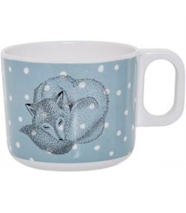 TAZA TOBY WHITE/BLUE - -TOBY-MELAMINE-CUP-WHITE-BLUE