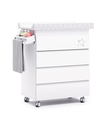Mueble-bañera-cambiador modular blanco - B706-G2300