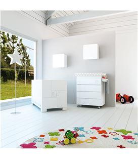 Mueble-bañera-cambiador con ruedas blanco 1 - SEMI-CLIP-B706-G2300