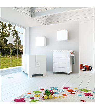 Mueble-bañera-cambiador modular blanco - SEMI-CLIP-B706-G2300