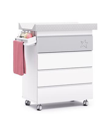 Mueble-bañera-cambiador modular gris - B706-G2314