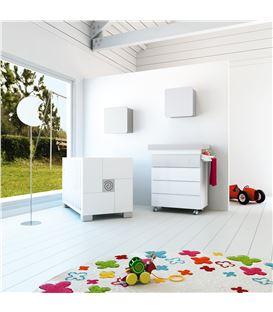 Mueble-bañera-cambiador con ruedas gris 1 - SEMI-CLIP-B706-G2314