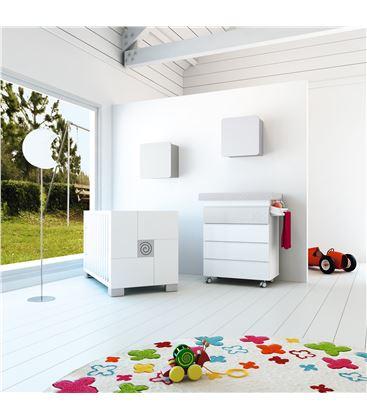 Mueble-bañera-cambiador modular gris - SEMI-CLIP-B706-G2314