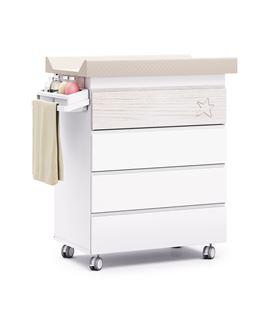 Mueble-bañera-cambiador con ruedas madera 1 - B706-G2392
