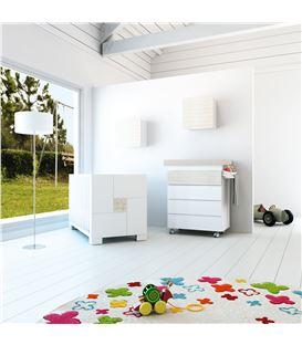 Mueble-bañera-cambiador con ruedas madera 1 - SEMI-CLIP-B706-G2392
