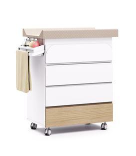 Mueble-bañera-cambiador con ruedas madera 2