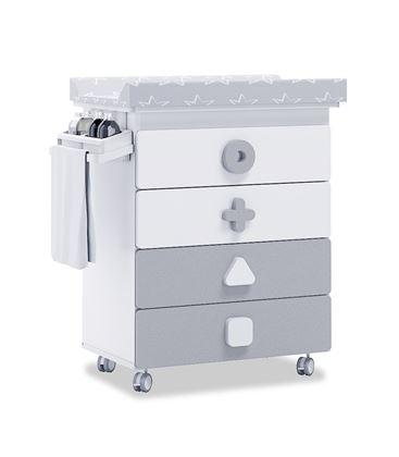 Mueble-bañera-cambiador con ruedas gris 2 - B750-2314