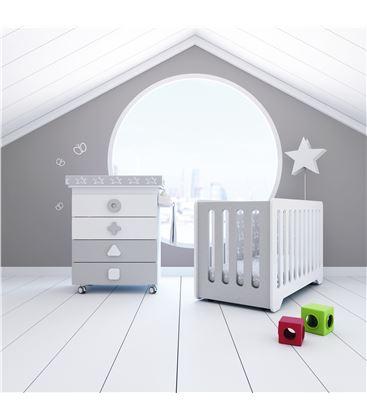 Mueble-bañera-cambiador con ruedas gris 2 - SEMI-MATHS-B750-2314