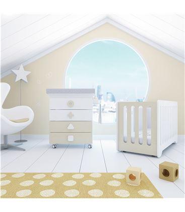 Mueble-bañera-cambiador con ruedas beige 2 - SEMI-MATHS-B750-2315