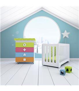 Mueble-bañera-cambiador con ruedas multicolor 1 - SEMI-MATHS-B750-2350