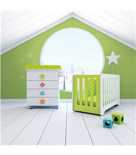 Mueble-bañera-cambiador con ruedas multicolor 2 - SEMI-MATHS-B750-2351