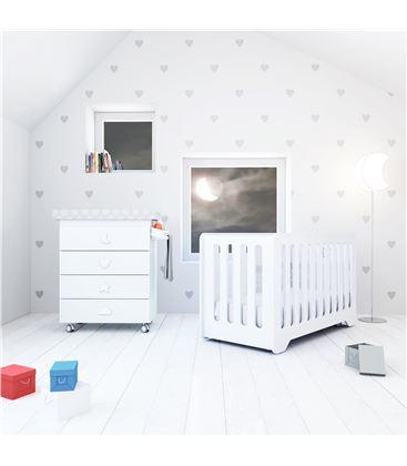 Mueble-bañera-cambiador con ruedas blanco 4 - SEMI-BUBBLE-B754-M7700