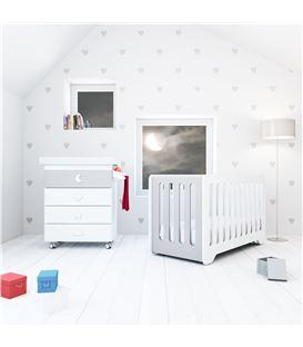 Mueble-bañera-cambiador con ruedas gris 3 - SEMI-BUBBLE-B754-M7778