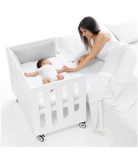 Minicuna de colecho Inborn Crib Luxe con colchón y saco textil blanco - C1044-M7700-COL