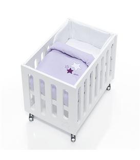 Minicuna de colecho Inborn Crib Luxe con colchón y saco textil lila - C1044TX-075