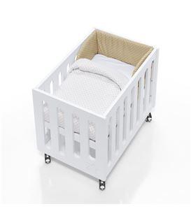 Minicuna de colecho Inborn Crib Luxe con colchón y saco textil beige - C1044TX-202