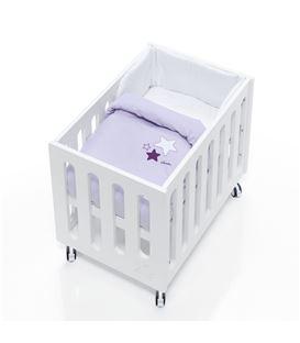 Minicuna de colecho Inborn Crib con colchón y saco textil lila - C1045TX-075