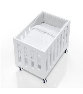 Minicuna de colecho Inborn Crib con colchón y saco textil gris - C1045TX-201