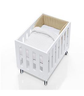 Minicuna de colecho Inborn Crib con colchón y saco textil beige - C1045TX-202