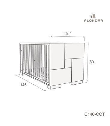 CUNA - CAMA - ESCRITORIO CLIP 70X140 CM BEIGE BRILLO - C146-TECH-COT