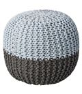 POUF GREY/SKY BLUE