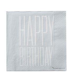 SERVILLETAS PAPEL HAPPY BIRTHDAY 33X33 PACK20 - SERVILLETAS-HAPPY-BIRTHDAY